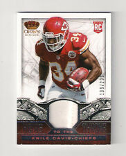 2013 CROWN ROYALE CHIEFS KNILE DAVIS HEIRS TO THRONE JERSEY RC #19 (#199/299)