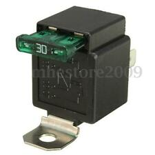 12V 30A 4 Broches Relais On/Off Relay Socket Support Métal Auto Vélo Moto Camion