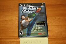 Fighter Maker 2 (PS2 Playstation 2) NEW SEALED Y-FOLD W/UPC, MINT, RARE!