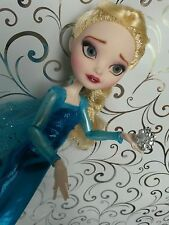 Monster high doll repaint ooak /ever after high frozen Elsa