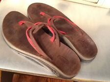 Chaco Sway Ecotread Womens Floral Red Flip Flops Sandals Size 6