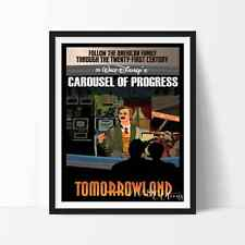 Vintage Tomorrowland CAROUSEL OF PROGRESS Disneyland Poster Repro No Frame 8x10