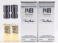 THIERRY MUGLER A MEN PURE MALT CREATION 2013 1.5ml .05oz x 2 COLOGNE SAMPLES