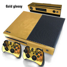 XG Gold Glossy Decal Skin Sticker for Microsoft Xbox One Console+Controllers