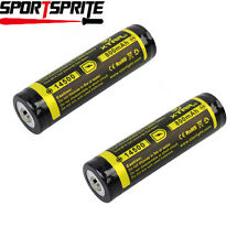 2pcs XTAR 800mAh 14500 3.7V Protected Rechargeable Li-ion Battery for Torch