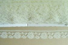 CRAFT-SEWING-LACE 3mtrs x 25mm Cream/Ivory Floral Design Lace