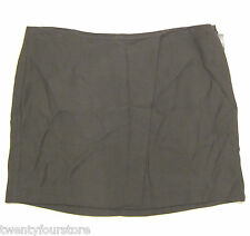 NWT $255 Helmut Lang Mini Wrap Skirt in Prism Twilight Taupe Brown sz 8