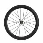 700C 60mm Clincher Tubular Road Bicycle Single Wheel 23mm Width Carbon Wheel