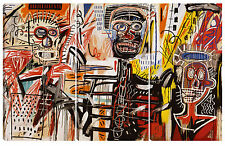 Quadro moderno astratto ART arredamento 60x90 basquiat tela abstract graffiti