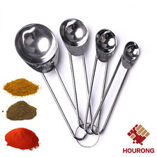 4 in 1 Set Stainless Steel Measuring Cups Spoons Baking Tool 1.25/2.5/5/15ml NEW