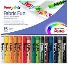 Stoffmalkreide Pentel 15 Farben sortiert PTS-15 NEU