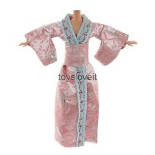 Cute Japanese Traditional Kimono Style Dress Costume Clothes for Barbie Doll