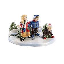 VILLEROY & BOCH Christmas Toys Szene Eislaufen Kerzenständer Porzellanfigur