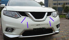 4pcs Chrome Grille + Lower Air Vent Trim For Nissan X-trail Rogue 2014 15 2016