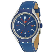 Swatch Go Run Blue Dial Mens Quartz Watch YES4000