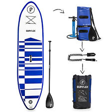 "Supflex Board 10ft Inflatable Stand Up SUP Paddle (6"" Thick) Complete iSUP Pack"