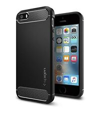 iPhone SE Case, Spigen [Rugged Armour] Resilient [Black] Ultimate protection