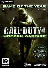 "CALL OF DUTY 4 MODERN WARFARE GAME OF THE YEAR GOTY ( PC DVD) ""NEW &  SEALED"""