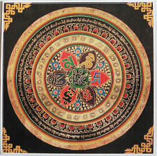 Beautiful Square Mandala Om Mani Padme Hum Buddhist Sticker One Sided 10cm