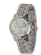 NEW WOMENS MICHAEL KORS (MK5428) MINI RUNWAY SILVER CHRONOGRAPH WATCH SALE!