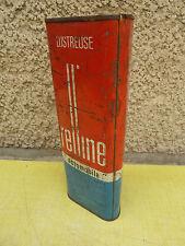 Ancienne boite publicitaire RELLINE, lustreuse automobile déco de garage vintage