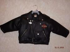 NWOT~HARLEY DAVIDSON~JACKET~FAUX LEATHER~INSULATED~2T~TODDLER~BOYS OR GIRLS!
