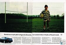 Publicité Advertising 1992 (2 pages) VW Volkswagen Passat