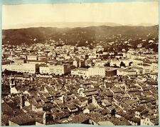 2 Photos Albuminés Nice Côte d'Azur et Genova Italie Vers 1870