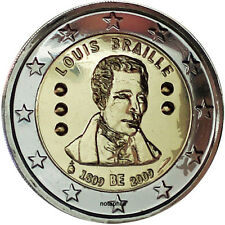 BELGICA: 2 euro 2009  S/C  LOUIS BRAILLE