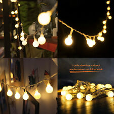100 LED Bulbs String Lights Ball Globe Fairy Lamp Festival Xmas Indoor Outdoor