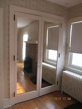 INTERIOR CLOSET DOOR WITH BUILT IN MIRROR FRENCH DOORS