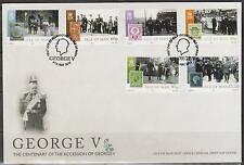 GB - Isle of Man 2010 King George V Centenary of Accession SG 1591/6 FDC ROYALTY