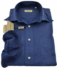$285 BURBERRY London Blue Sport Casual Dress Men's Shirt Size S NEW COLLECTION
