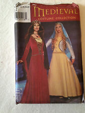 Simplicity Pattern 9758  Medieval Queen Costumes - Misses Sizes 14 to 20  UNCUT