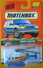 1998 Matchbox Alpine Rescue Chopper 60 Helicopter Toy 36259 Mattel Die Cast
