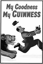 GILROY Design Poster* Colored advertisement for GUINNES *  1938