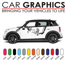 MINI Auto Strisce grafica decalcomanie adesivi Cooper Vinile Design MN2