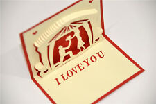 Handmade 3D Pop Up I Love You Propose Marriage Romantic Card