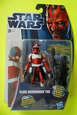 "Hasbro Star Wars The Clone Wars Clone comandante fox CW 18 3.75"" Inch figure"
