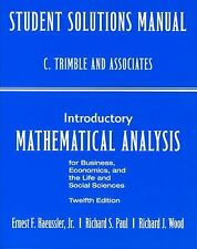 Student's Solutions Manual for Introductory Mathematical Analysis for Business,