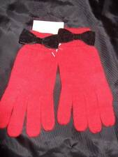 NWT GYMBOREE  HOLIDAY PANDA red knit gloves black velveteen bow girls 8 9 10 12