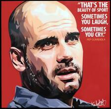 Pep Guardiola canvas quotes wall decals photo painting framed pop art poster