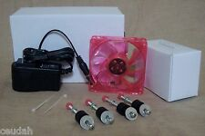 Red Circulated Air Fan Kit w LIGHT for LITTLE GIANT HOVABATOR FARM Forced Air