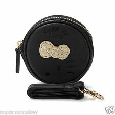 SANRIO HELLO KITTY BOW SERIES PURSE SMALL ROUND HANDBAG (BLACK)  RD00194