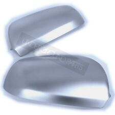 PAIR OF MATT SILVER ALUMINIUM S-LINE STYLE AUDI A3 A4 A6 WING MIRROR COVERS CUPS