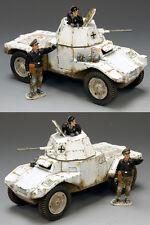 KING & COUNTRY WW2 GERMAN ARMY WS195 WINTER PANHARD ARMOURED CAR MIB