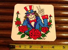 Grateful Dead Era Sticker Uncle Sam Skeleton in Top Hat Peace ful