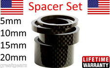 "1 1/8"" Carbon Bike Headset Stem Spacers Set 5 10 15 20 mm FSA Bontrager Ritchey"