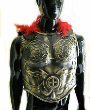 Roman Greek Soldier Army Chest Armor & Black Cape Adult Halloween Costume