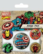 Captain America - MARVEL Avengers - Button Set - Badge Pack - Neu OVP